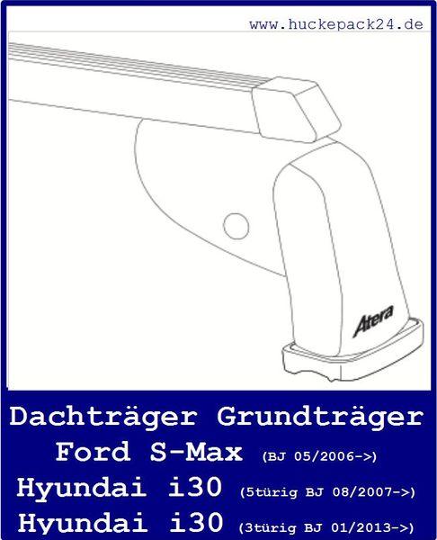 Dachträger Grundträger Stahl  Ford S-Max  Hyundai i30  2 Stück
