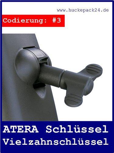 ATERA Montageschlüssel Vielzahnschlüssel für Grundträger/Dachträger CODIERUNG #3