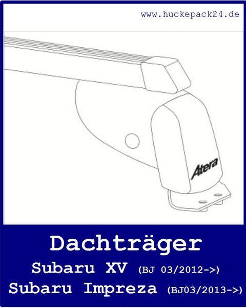 2 Dachträger Grundträger Subaru XV 03/2012->  Subaru Impreza 03/2013->
