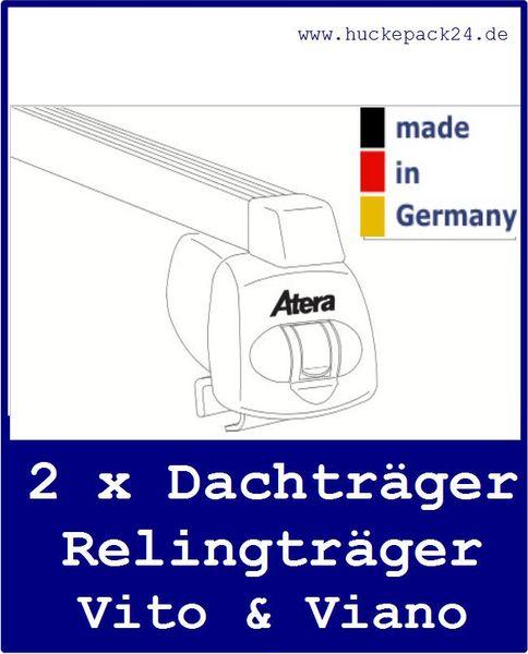 Dachträger Grundträger Mercedes Viano Vito mit Reling 2 Stck BJ 09/03- Atera