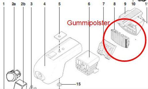 ATERA Gummi Gummieinlage für Dachträger Grundträger Relingträger 4 Stück