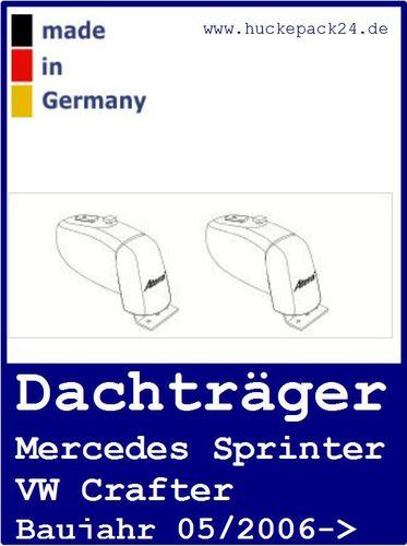 1 Dachträger Mercedes Sprinter Normald C-Schiene VW Crafter ab Baujahr 5/2006->