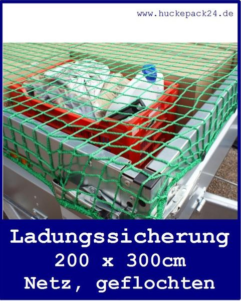 Ladungssicherungsnetz Gepäcknetz 2000x 3000mm Randverstärkung Netz