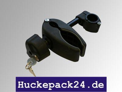 Rahmenhalter Halterung kurz 12cm abschließbar Greifer f. Fahrradträger