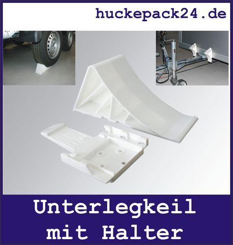 Unterlegkeil mit Halter für Anhänger Wohnwagen  Kunststoff Bremskeil