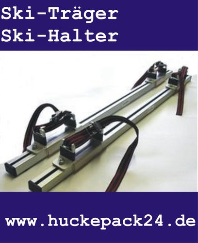 Skiträger Skihalter Anbausatz für Eckla Porty Ecoty Fahrradträger 2 Paar Ski