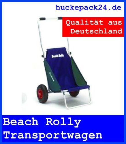 BEACHROLLY  Beach Rolly Eckla blau/grün Strandstuhl Transportwagen Camping