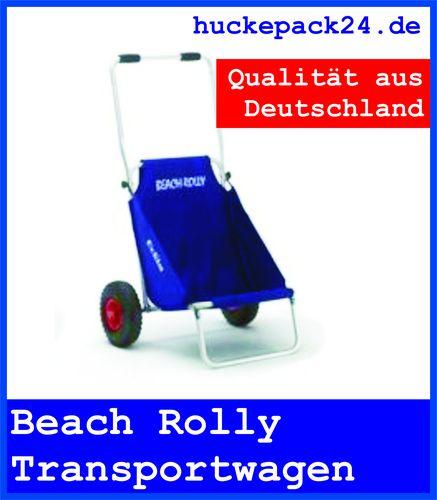 Beach Rolly Eckla,Gepäckwagen und Sitz Farbe: blau ideal für Strand und Freizeit
