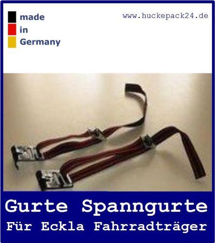 2 Gurte für kurze Heckklappe Eckla Porty Fahrradträger Gurtbandset Spanngurte