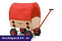 Planendach f Bollerwagen Easy u Fun Trailer 100cm  rot