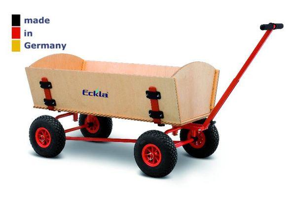 BOLLERWAGEN Eckla  Easy Fun Trailer Vierradlenkung 70cm lang Handwagen Transport