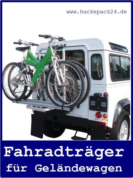 Fahrradträger  Jeep Wrangler ab 2007 auf Reserverad für 2 Räder E-Bikes geeignet
