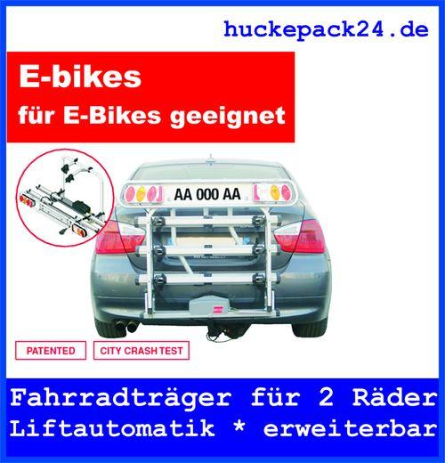 Fahrradträger 2 Fahrräder Anhängerkupplung absenkbar hochklappbar Liftautomatik
