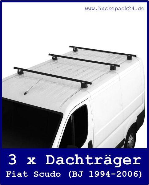 Dachträger Fiat Scudo 3 Querträger komplett  1994-2006  150kg Grundträger