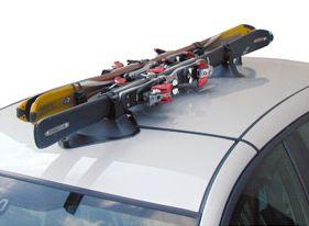 Skiträger mit Magnetfuß Dachträger Skihalter Fabbri Ellisse auch für Sportwagen