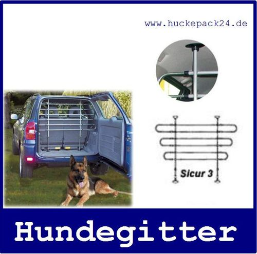 Hundegitter Dog Guard  verstellbar B 88-147cm H 84-129cm   6 Stäbe