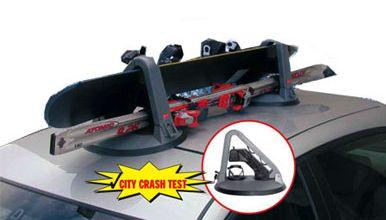 Skiträger Snowboardträger mit Magnetfuß für das Autodach abschließbar