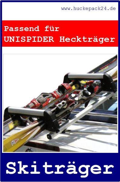 Ski und Snowbowardträger für Roadster und Cabrios auf dem Unispider zu montieren