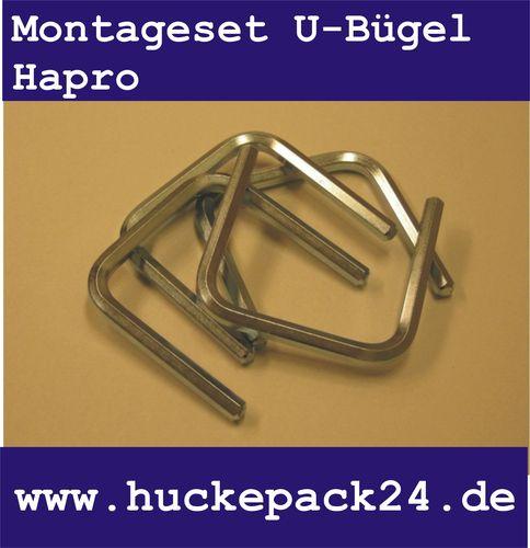 Befestigungsset U-Bügel Easy Fit 4 Stück Befestigung Halterung Hapro Atera