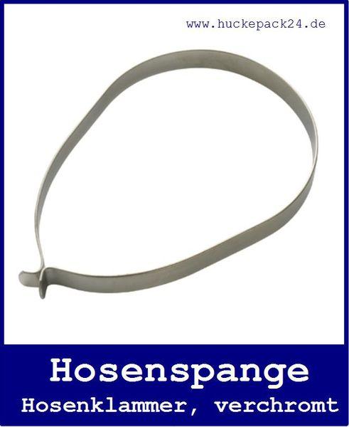 2 Hosenklammer Hosenspange verchromt 13mm breit Schutz beim Radfahren