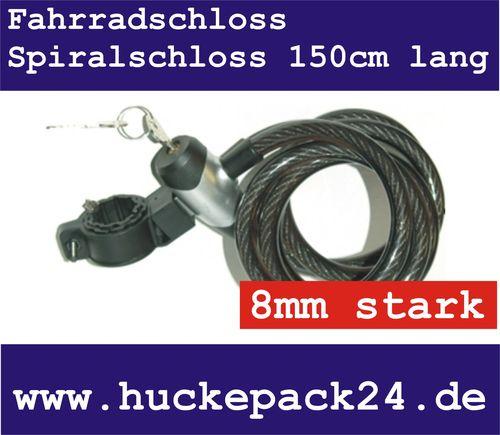 Fahrradschloss Spiralschloss Spiralkabelschloss Contec 150cm lang  8mm