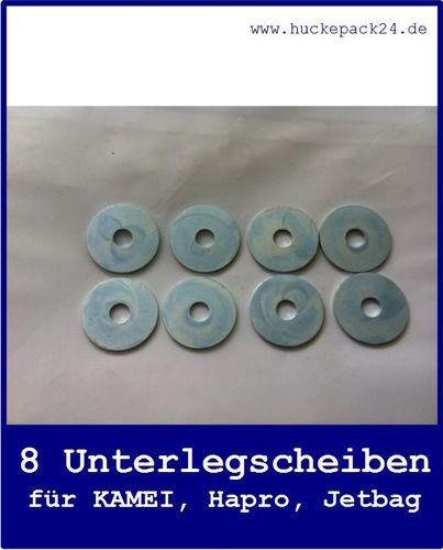 8 Unterlegscheiben für KAMEI Hapro Jetbag  Dachboxen U-Bügel Montage