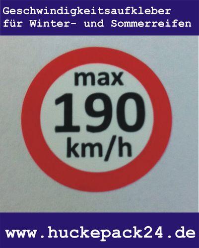 Geschwindigkeitsaufkleber 190 km/h Aufkleber Winterreifen Sommerreifen