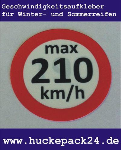 Geschwindigkeitsaufkleber 210 km/h Aufkleber Winterreifen Sommerreifen