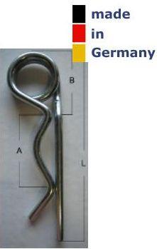20 x Federstecker verzinkt Draht 52mm lang doppelt Federsplint Sicherungssplint